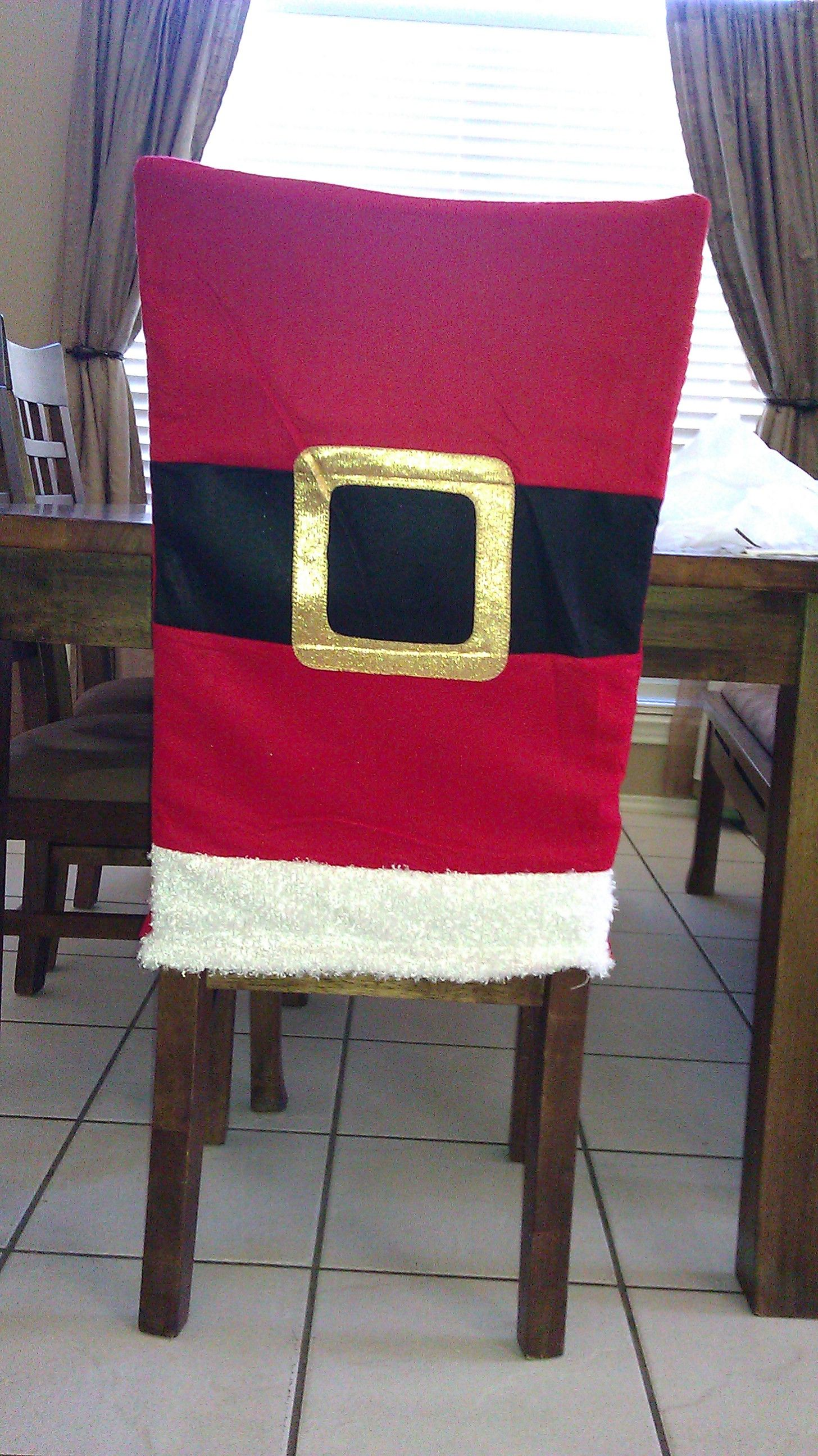 christmas chair covers pinterest papasan cover etsy santa felt gift bag from michaels turned upside down to make a back