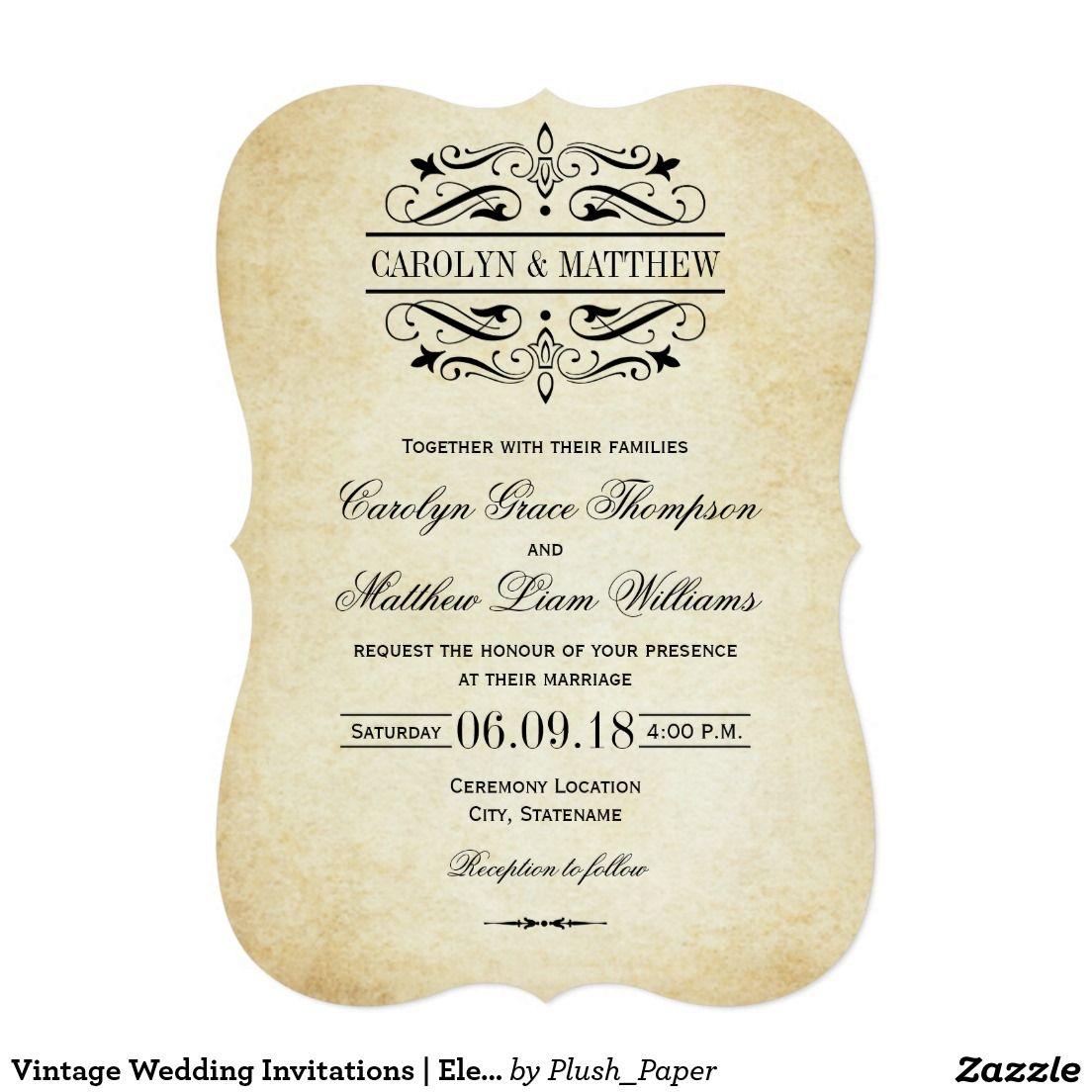Vintage Wedding Invitations | Elegant Flourish | WEDDING Invitations ...