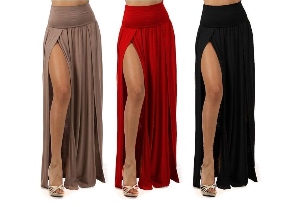 Long maxi skirts with slits – Modern skirts blog for you