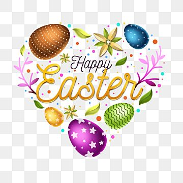 Happy Easter Labels With Cute Illustrations For Your Poster Designs Or Greeting Cards Easter Happy Easter Text Png Transparent Clipart Image And Psd File For In 2021 Happy Easter Happy Easter