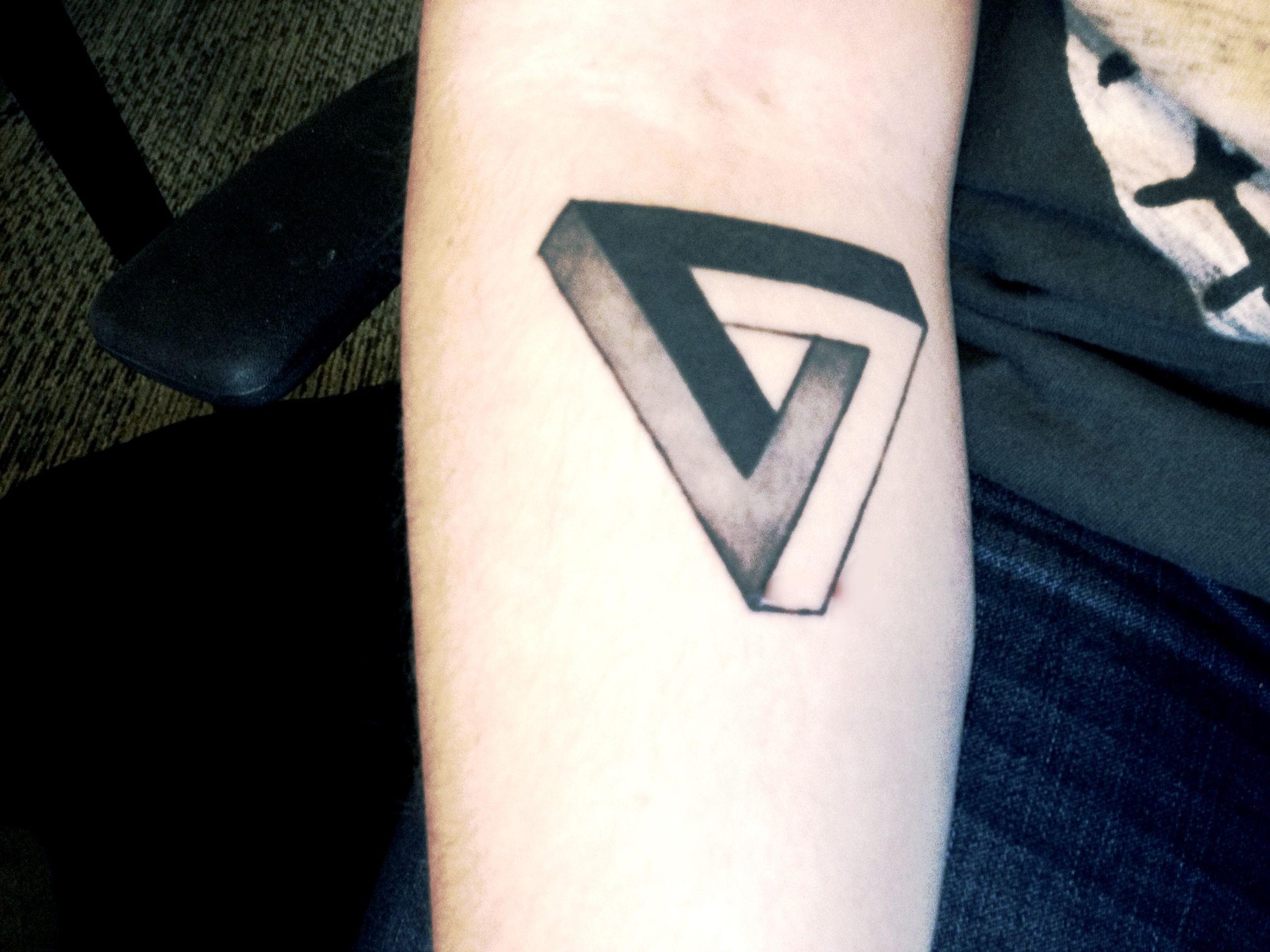 a80e13013 Penrose triangle tattoo | Tattoos | Triangle tattoo meaning, Penrose ...