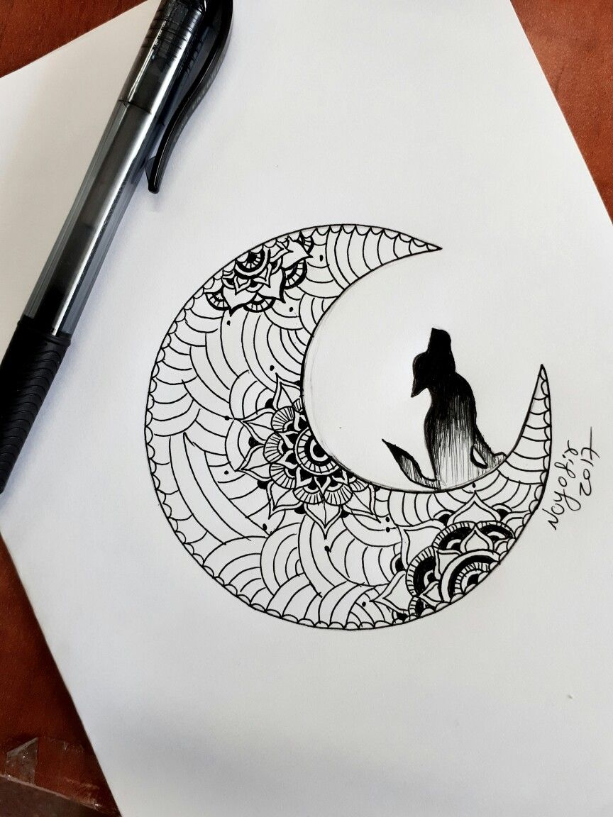 #wolf #moon #tattoo #mandala #mandalatattoo #moontattoo #wolftattoo #creative #art #drawing #