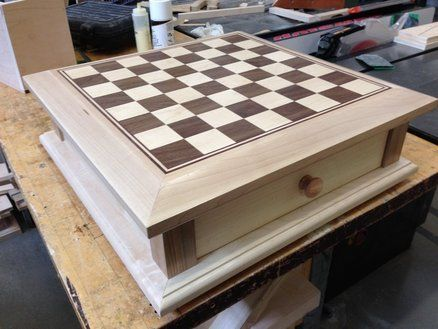 Chessboard With Drawer Chess Board