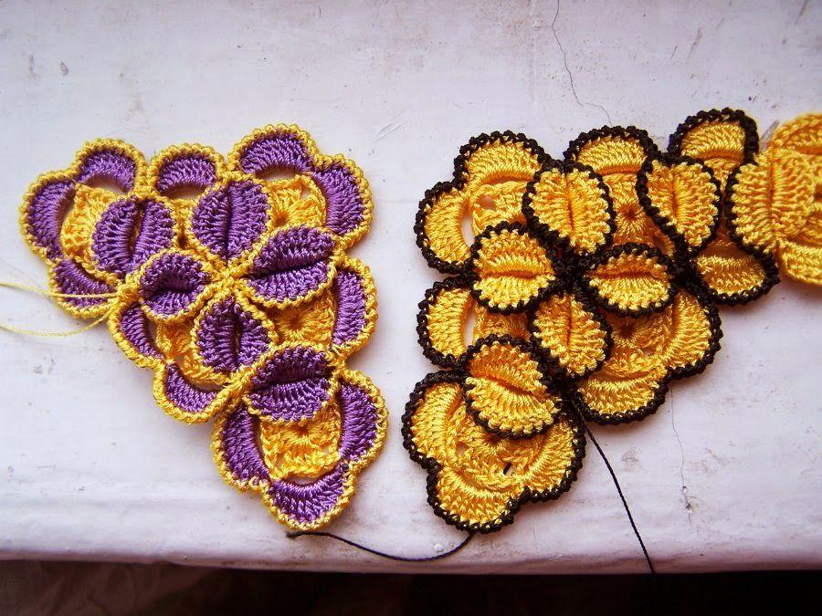 Bikini Multicolor Punto Flor Tutorial - Patrones Crochet | tejido ...