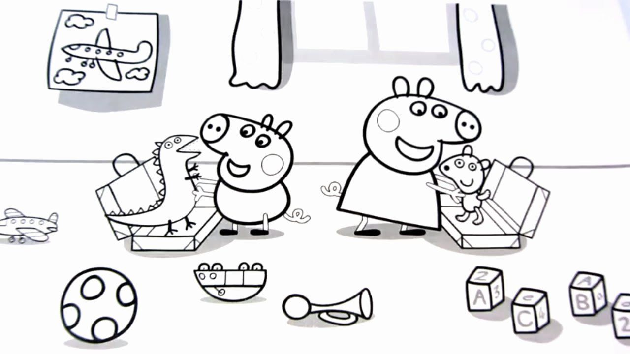 Peppa Pig Coloring Book Awesome Peppa Pig With George And Toys Coloring Book Coloring Peppa Pig Coloring Pages Dog Coloring Book Peppa Pig Colouring