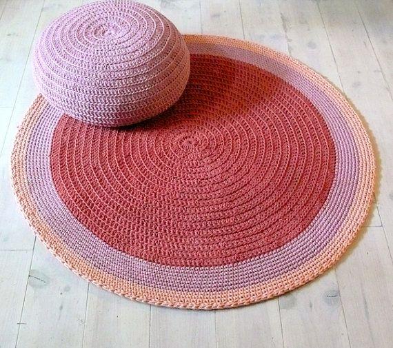Round Rug Floor Crochet 100cm By
