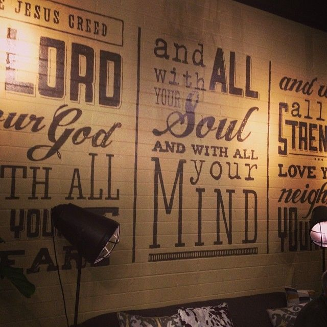 Wall art at the Journey Church cafe | Ministry | Pinterest | Journey ...