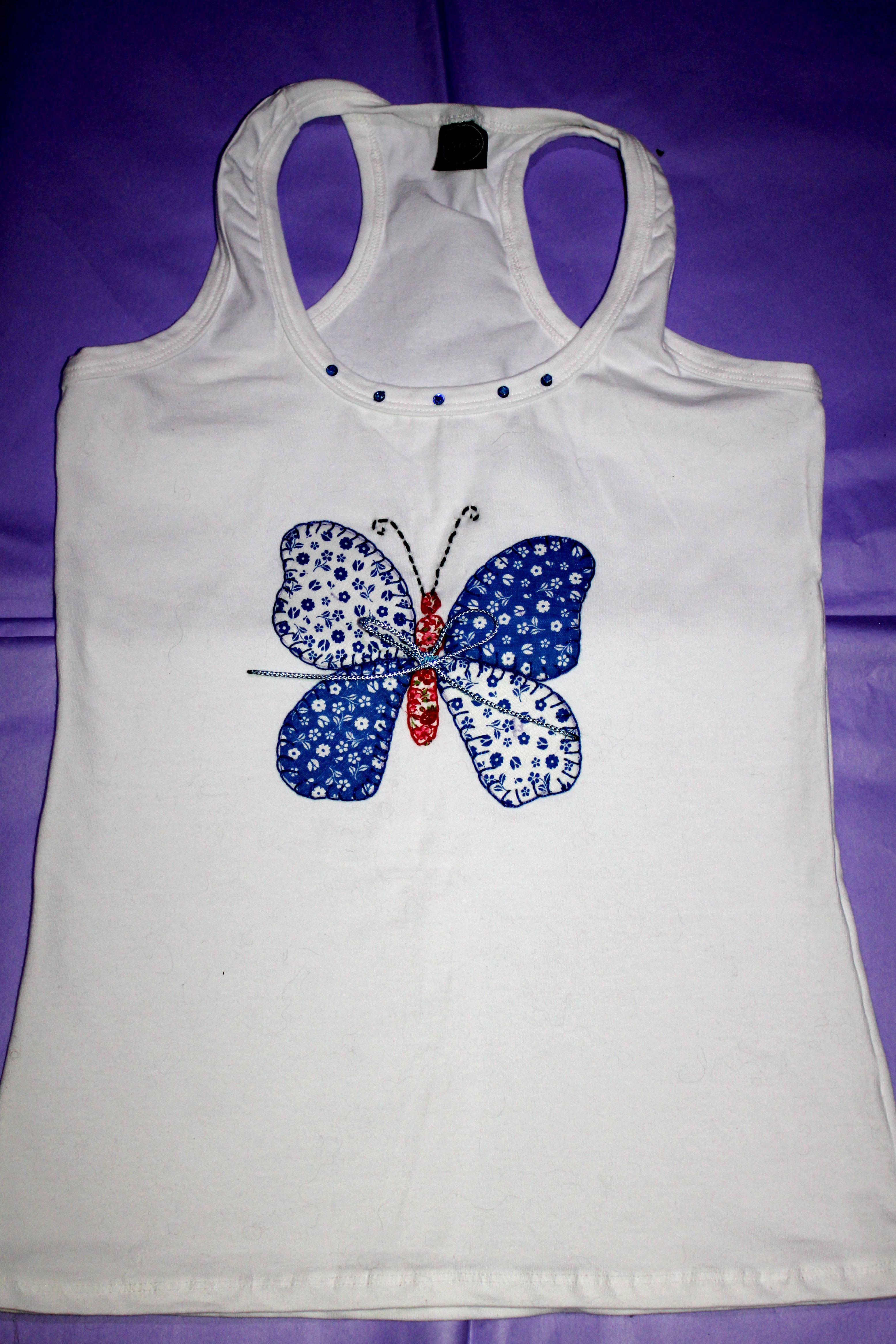 Camisetas decoradas y customizadas con tecnica patchwork - Pintura para camisetas ...