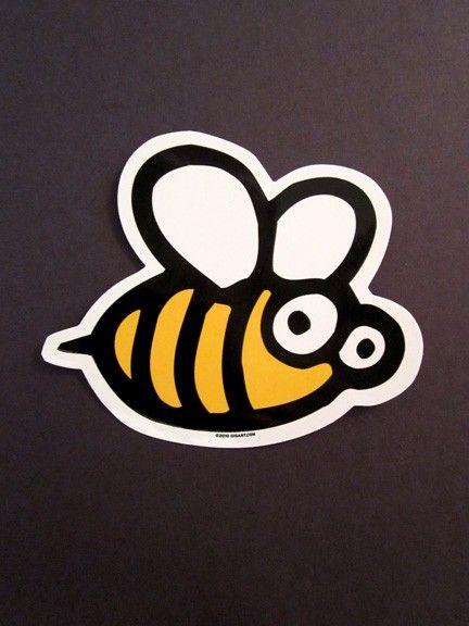 Bee die cut vinyl sticker etsy 2 25 via etsy