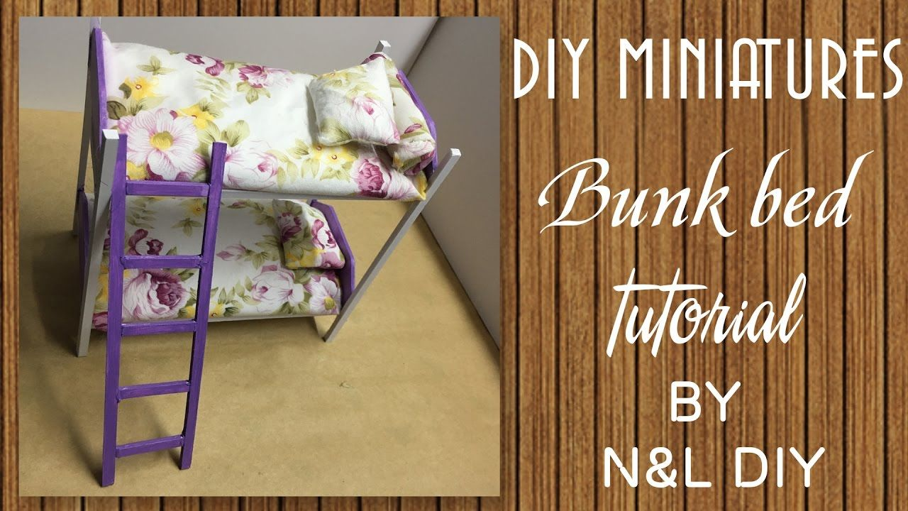 making doll furniture. Today We\u0027re Making This Cute, Miniature Bunk Bed. Is An Easy Method Of Doll Furniture Using Paper Model And Other Stuff You May Have In . E