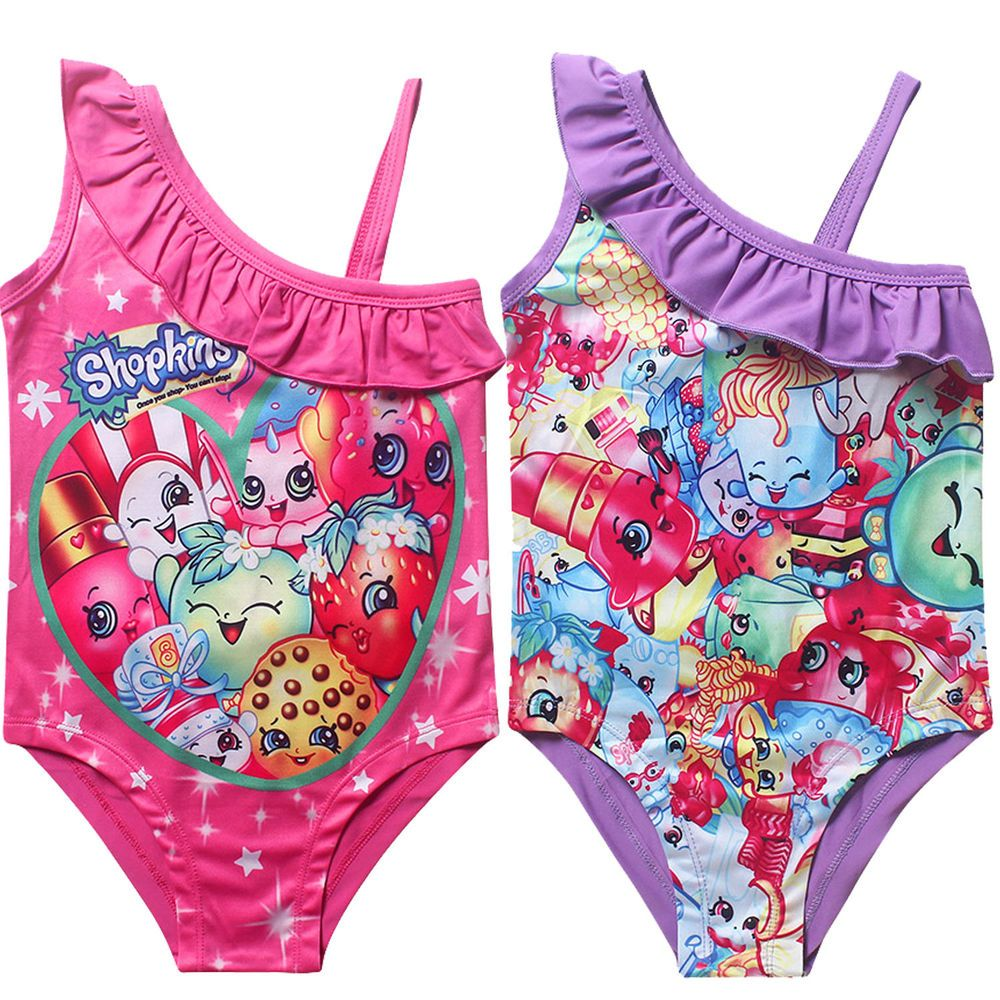260c1a06ede26 Girls SHOPKINS swimsuit swimwear swimmer bather swimming size 3 4 6 8 new  in AU