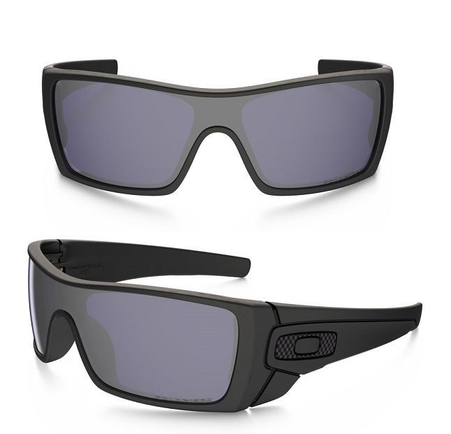 NEW GENUINE Oakley BATWOLF sunglasses Matte Black Grey Polarized Carbon 9101 -04 c86a88285f