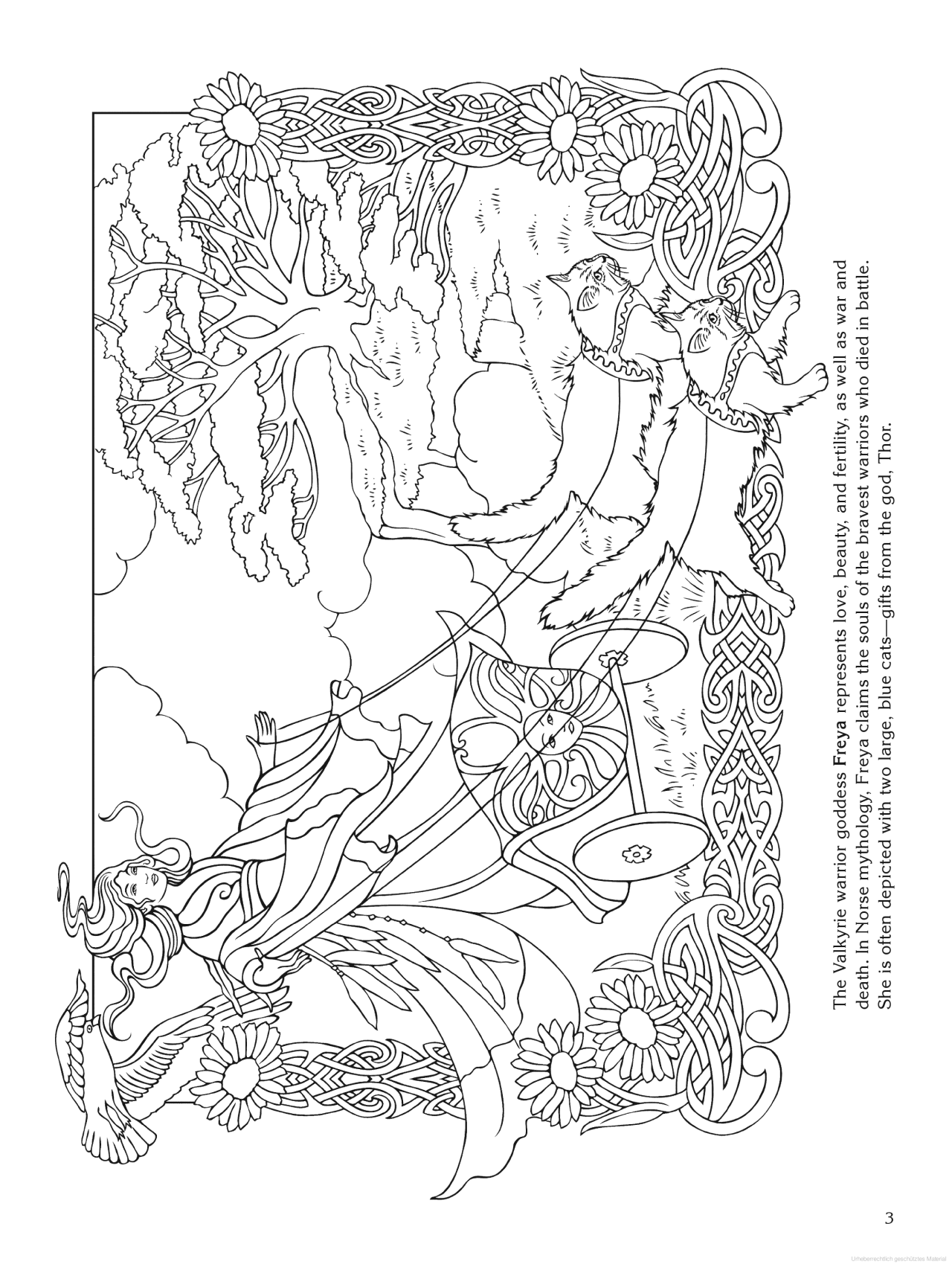 goddess coloring page  freya (norse)  love coloring