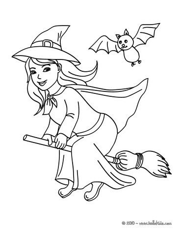 free printable witch coloring page - Witch Coloring Pages Free