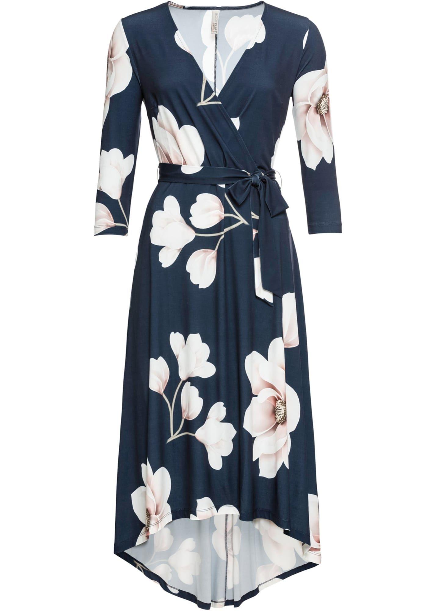 Photo of bonprix Kleid in dunkelblau / rosa / weiß