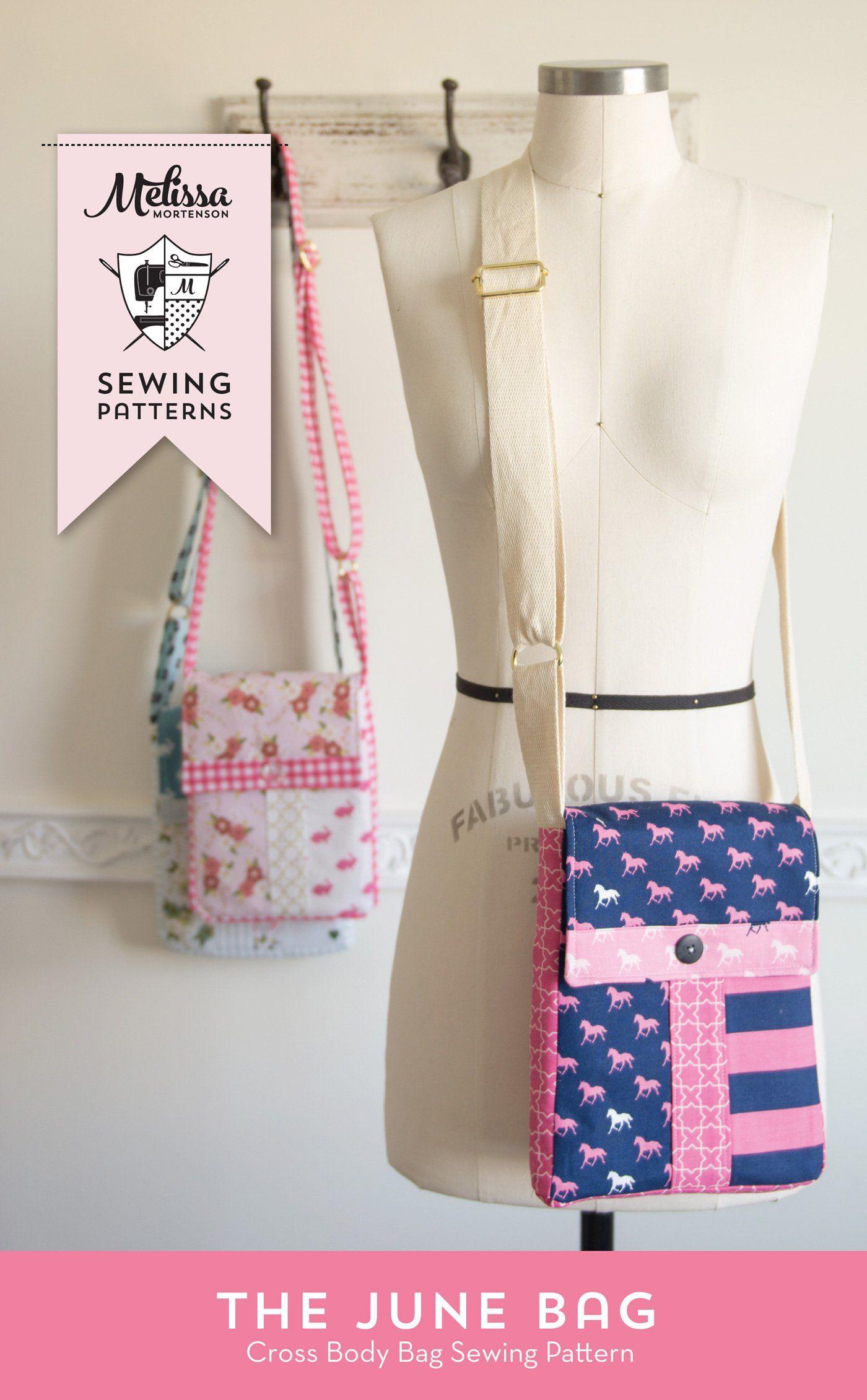 June Bag Mini Messenger Bag Sewing Pattern Pdf Bag Patterns To Sew