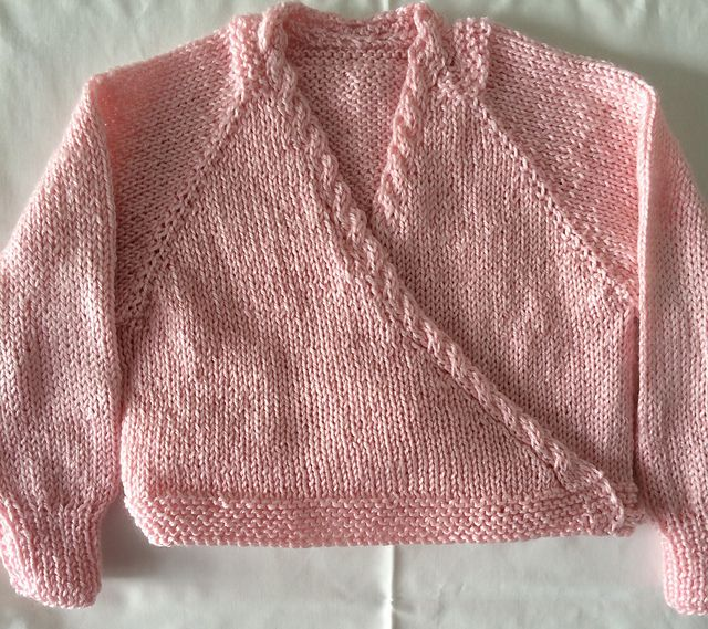 Ravelry: Crossover Raglan Ballet Cardigan, Top Down pattern by Leanna Booth