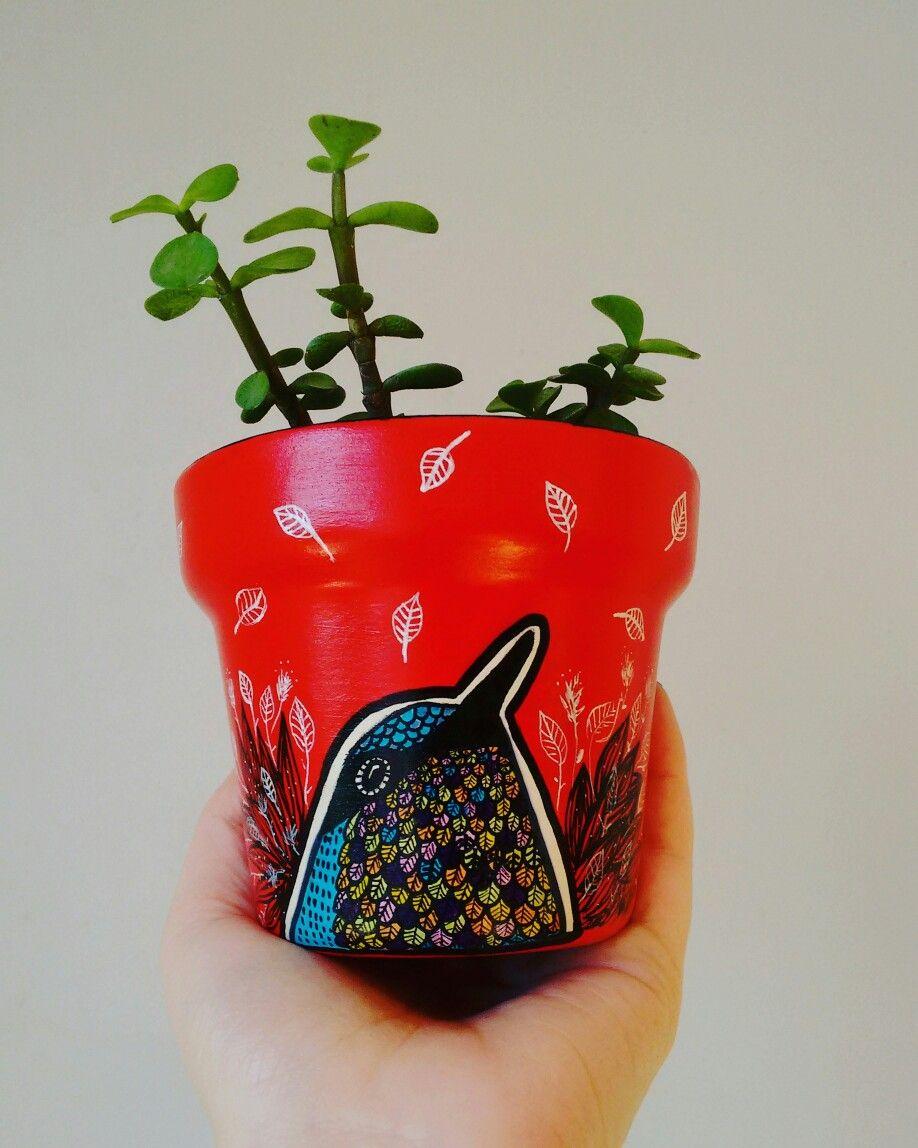 Vasinho decorativo, pintando a mão /Encomendas: contato@terapip.com / Facebook: terapip / Instagram: terapip
