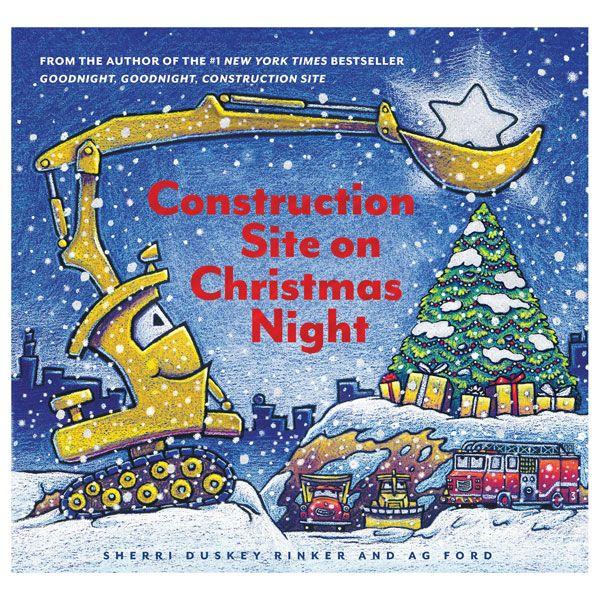 Construction Site On Christmas Night Season S Greetings