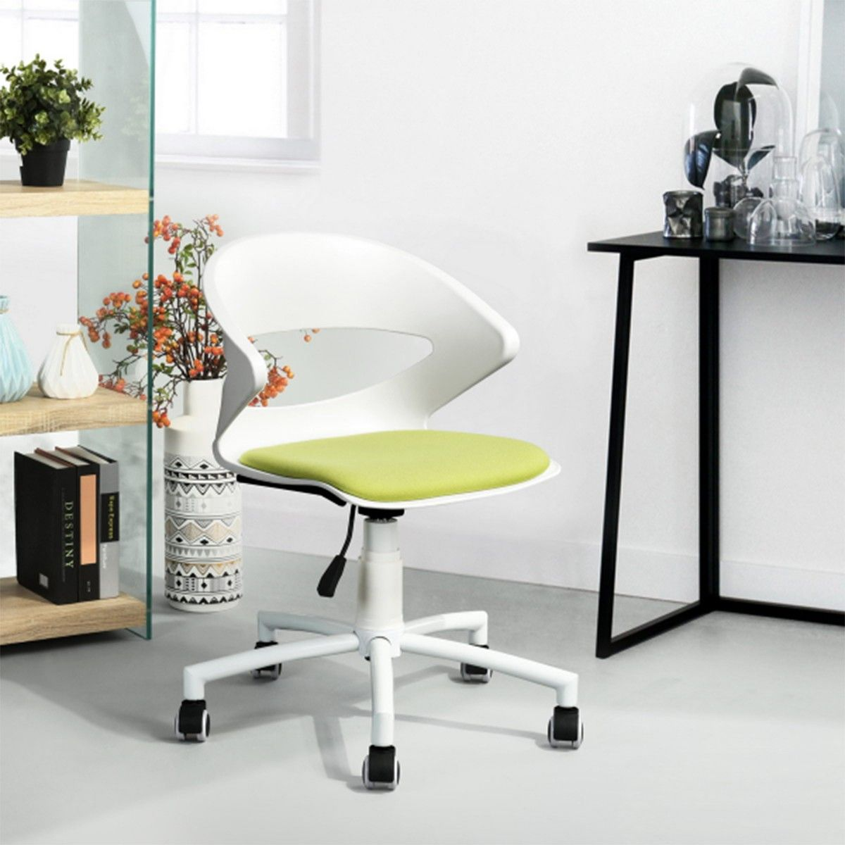 chaise de bureau design vert