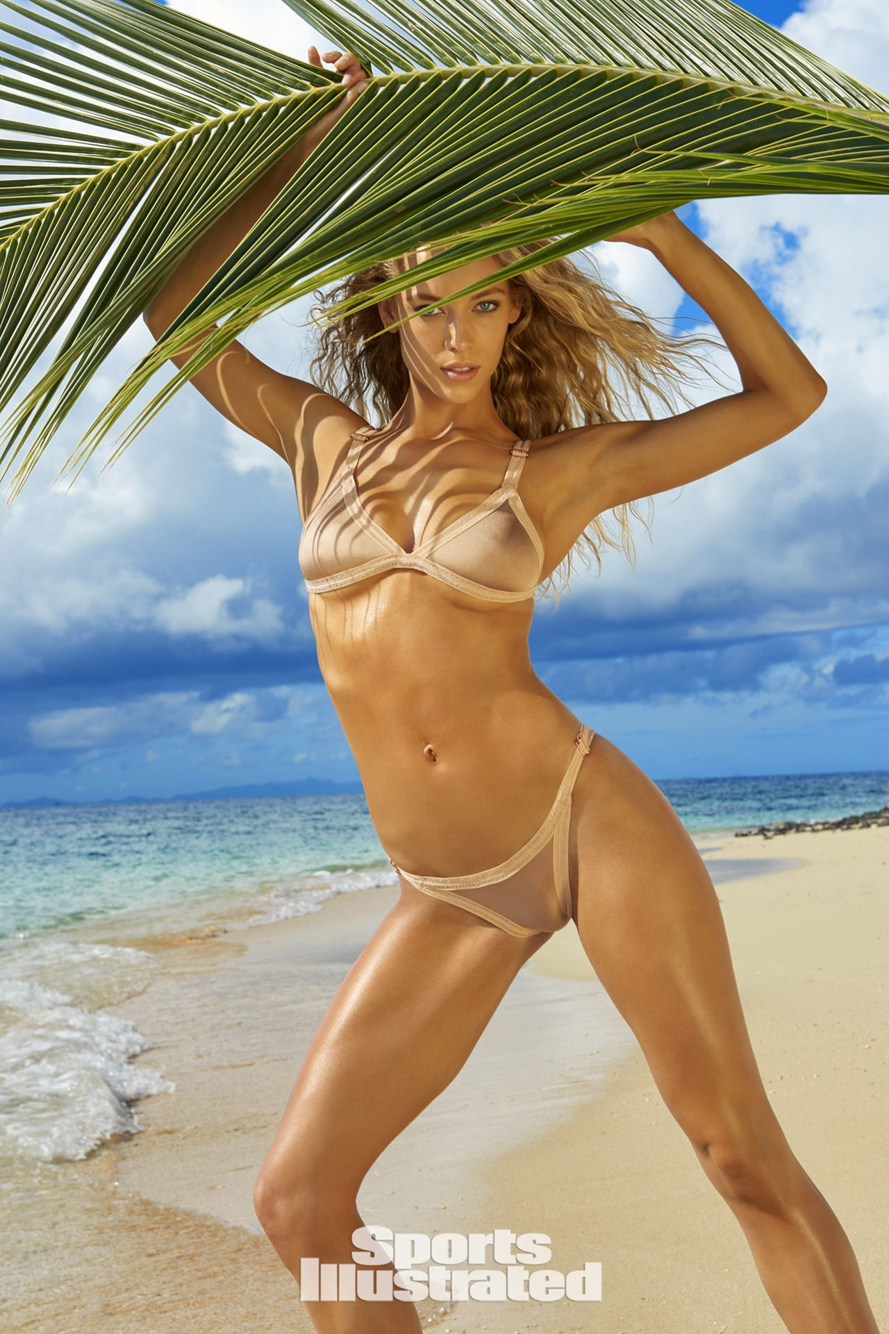 a558c9343cba Hannah Ferguson was photographed by Yu Tsai in Fiji. Swimsuit by Leah  Shlaer.