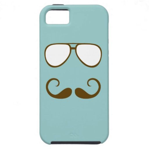 Hipster Mustache and Glasses iPhone 5 Cover