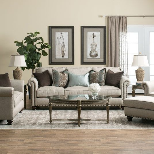 Inviting And Romantic The Hanson Dream Seating Living Room Collection By Jeromes Furniture