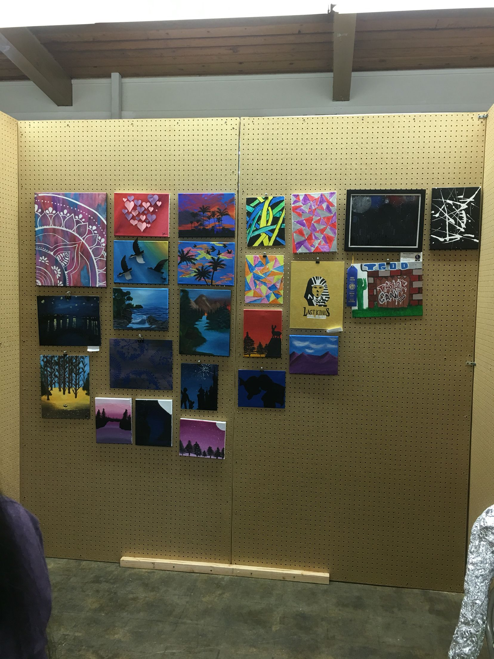 Our monthly ArtHop allows students to exhibit their work