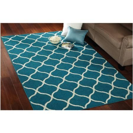Mainstays Sheridan Area Rug Tan Color Not Blue