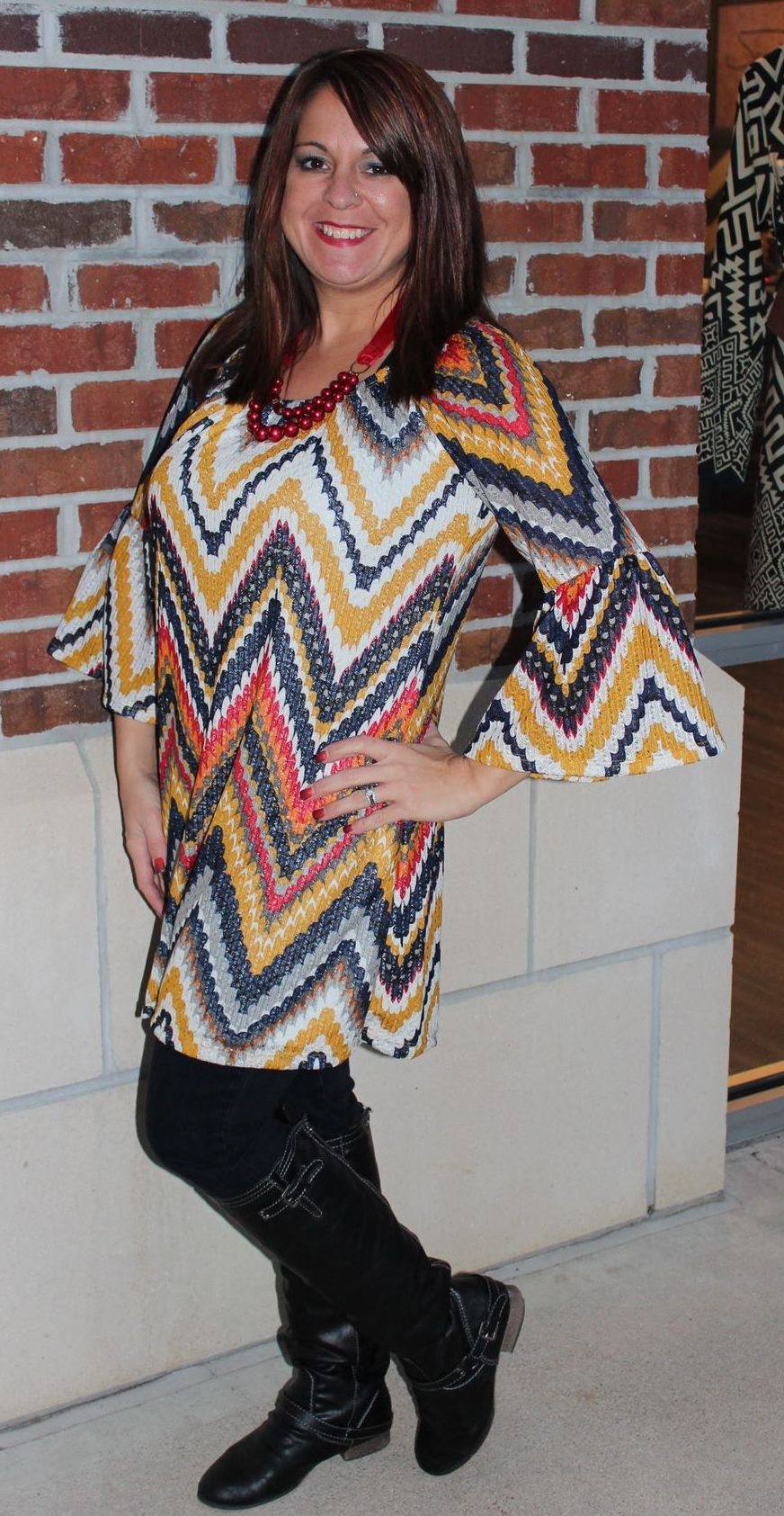 """Chase Away the Cold Weather Blues"" Tunic - $42 Call 31-889-1150 or email jen@jendaisy.com to order!"