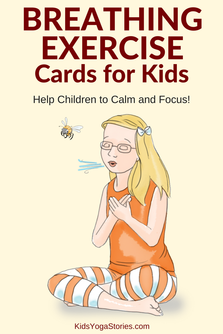 30 Breathing Exercise Cards For Kids Help Children To Calm And Focus Card Workout Yoga For Kids Mindfulness For Kids