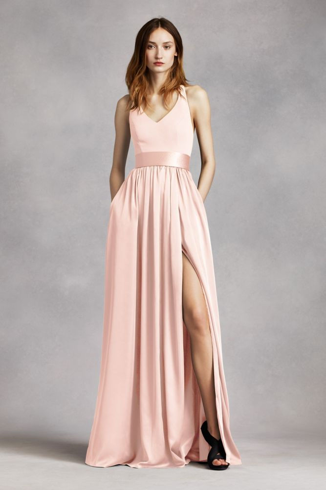 V Neck Halter Gown with Sash Style VW360214 | Products | Pinterest
