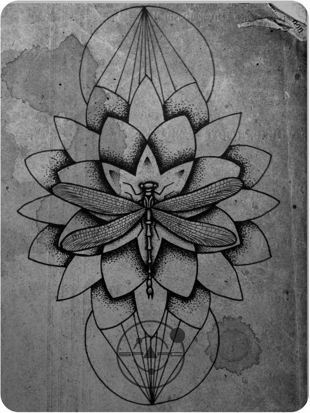 Dragonfly Tattoo Sketch - Love