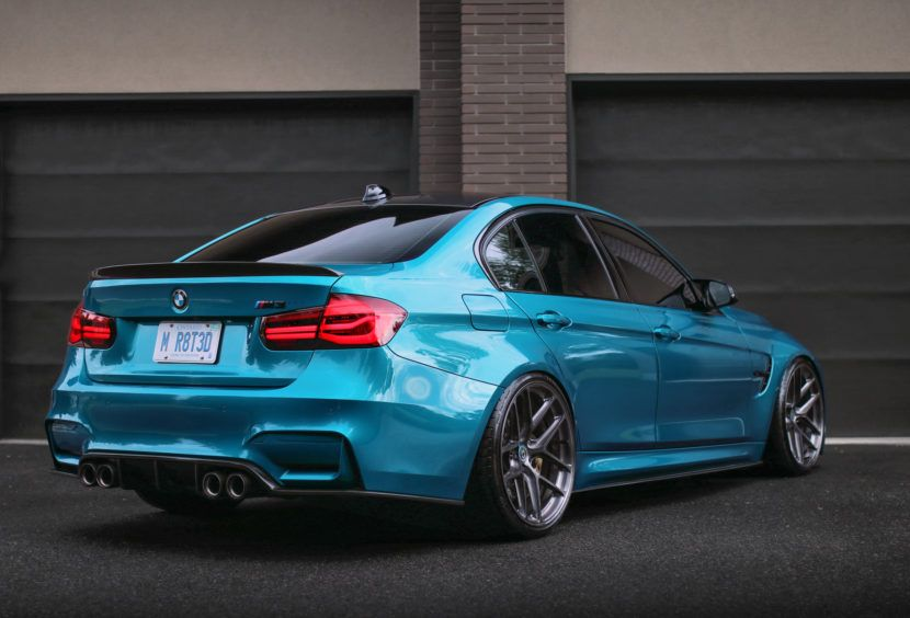 Striking Atlantis Blue Bmw F80 M3 With Hre R101lw Wheels Bmw