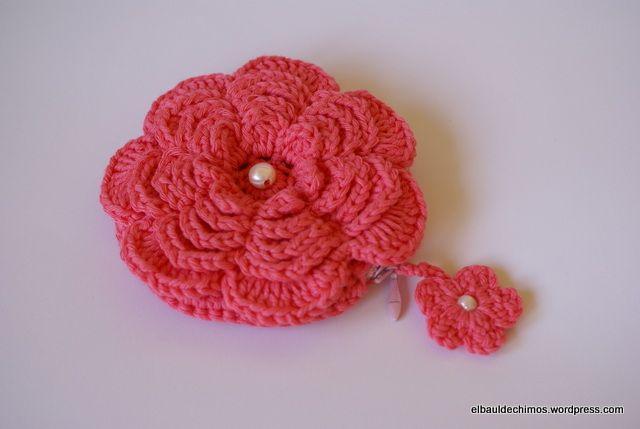 Monedero flor Las mejores ideas sobre Monederos, Flor y Ganchillo