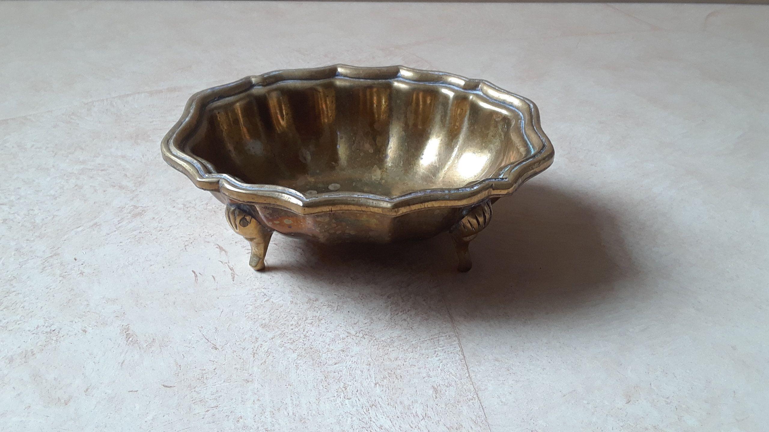 Vintage Miniature Brass Claw Foot Bathtub Clawfoot Brass Soap