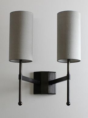 Double Stem Wall Light with Silk