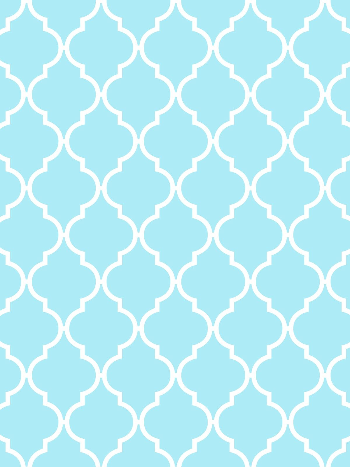 make itcreateprintables  backgroundswallpapers quatrefoil  - aqua and white quatrefoil wallpaper for electronics i would call this amoroccan tile pattern i would use it as a gift tag with maybe a littletouch of
