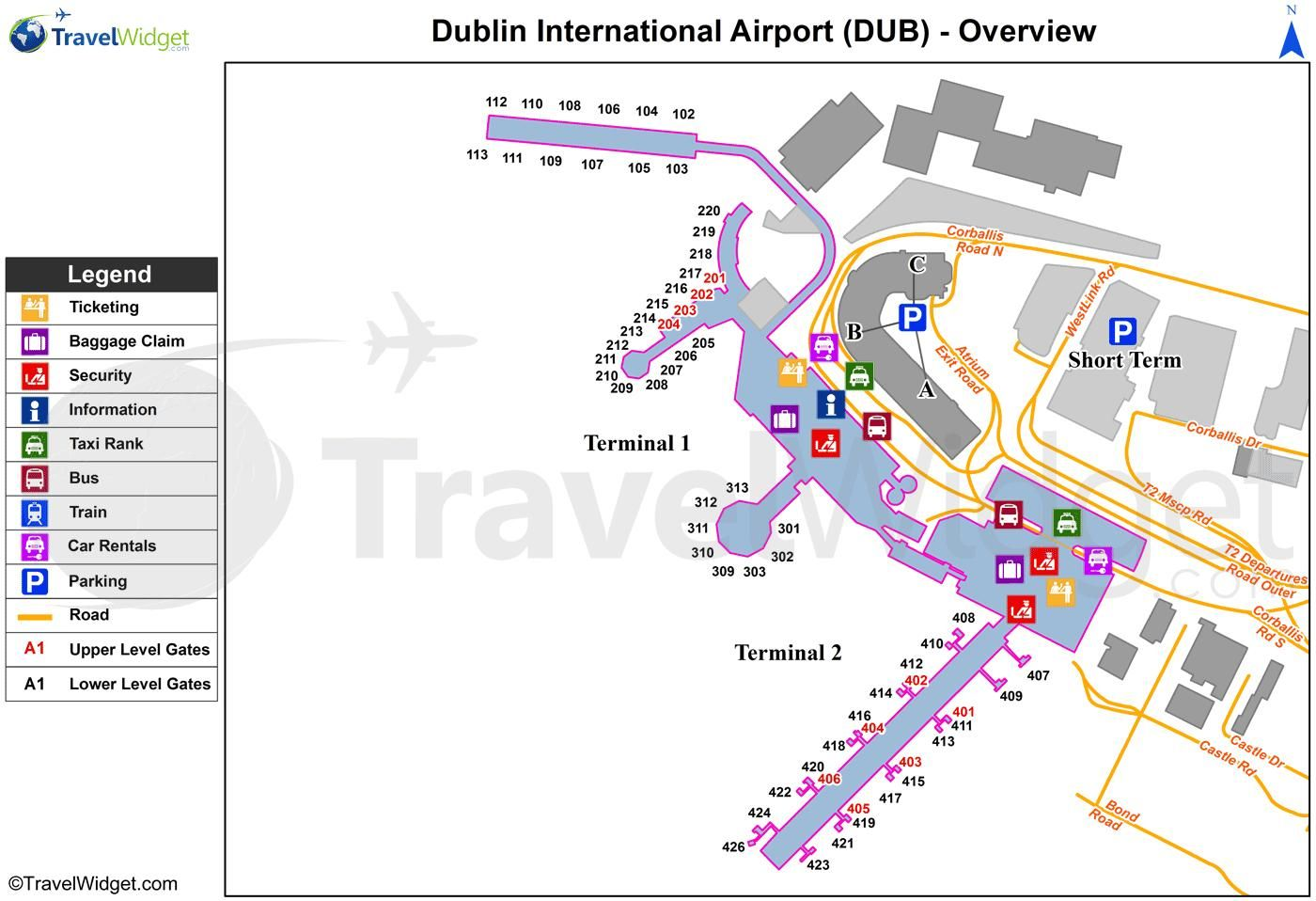 Dublin airport map map of dublin airport ireland - Planning and design of airports pdf ...