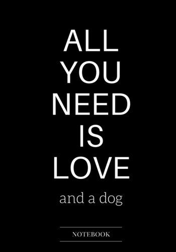 $5.98 love and dog notebook dot grid,lined,blank book humor ...