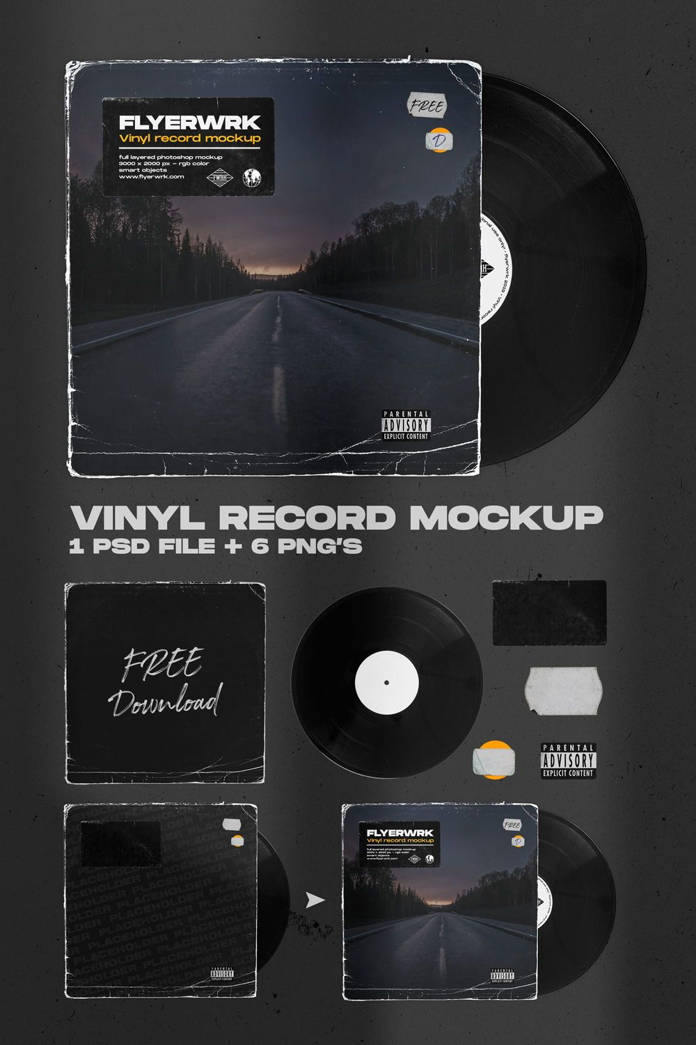 Vinyl Record Photoshop Mockup Great For Creating Album Covers And Other Forms Of Artistic Promotional De Promotional Design Cover Art Design Photoshop Design