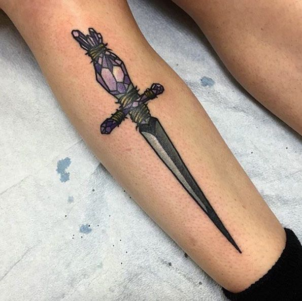 50 Amazing Sword, Dagger, and Knife Tattoo Designs | Tattoos | Sword ...
