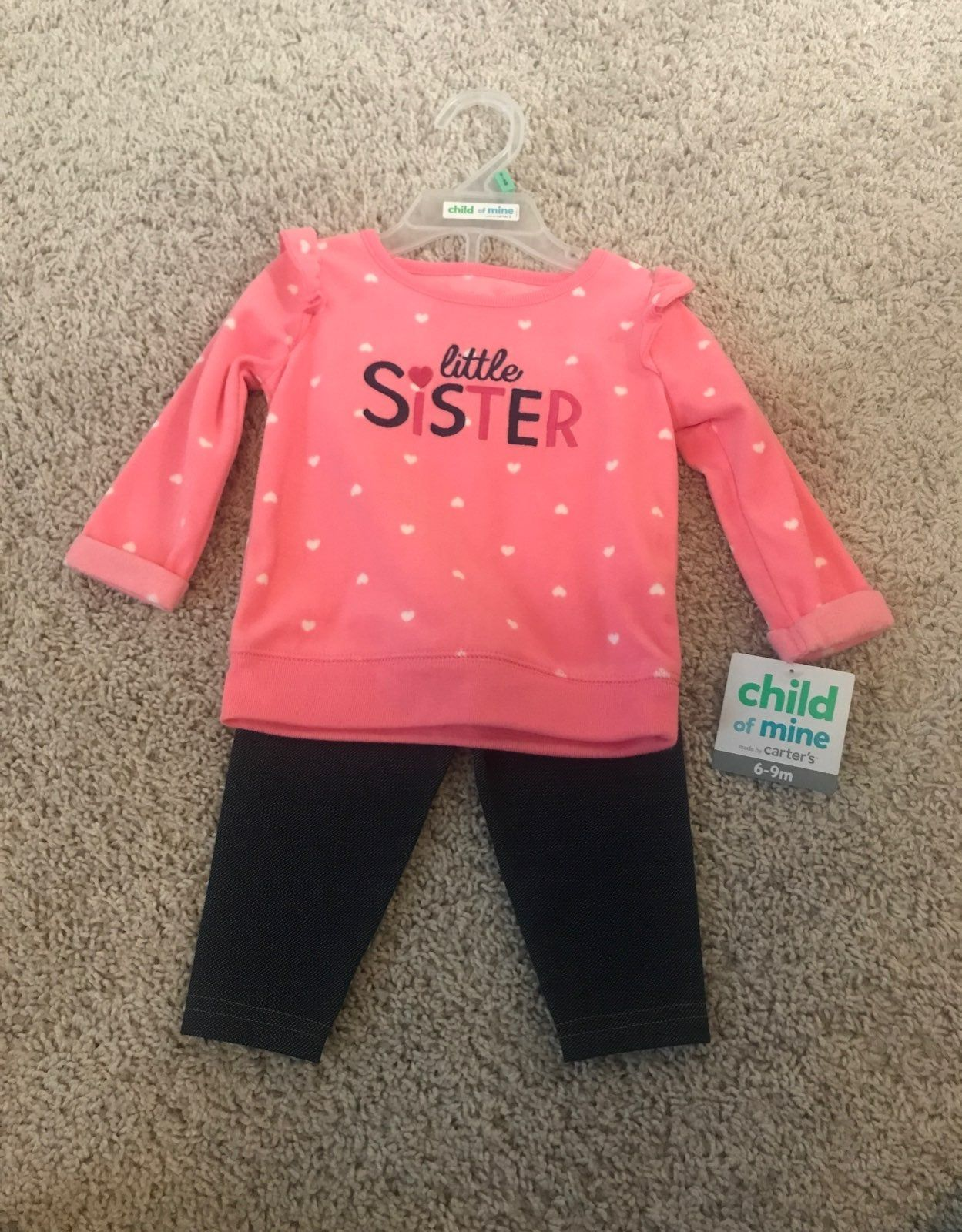Brand new with tag baby girl outfit, fleece top and pant. Little
