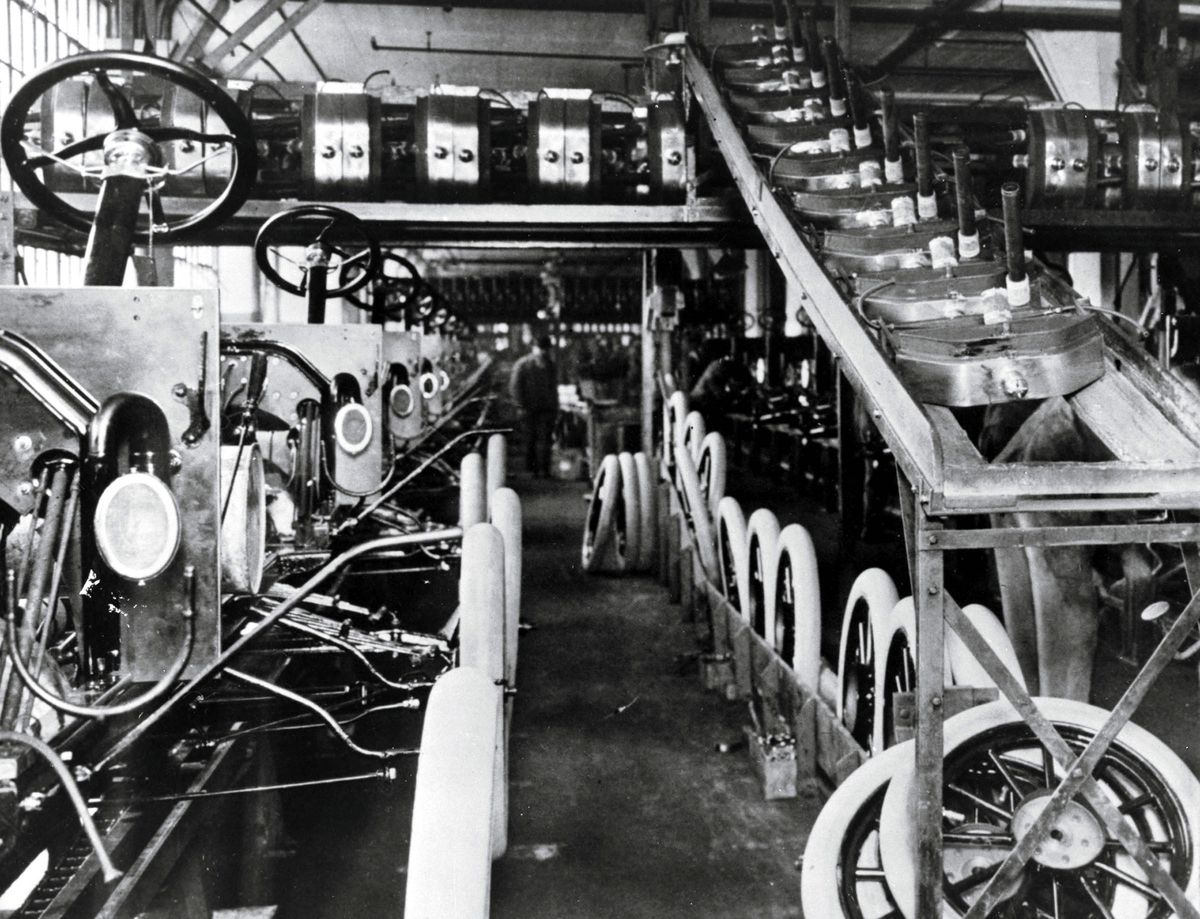 Happy Birthday Ford Motor Company With Images Assembly Line