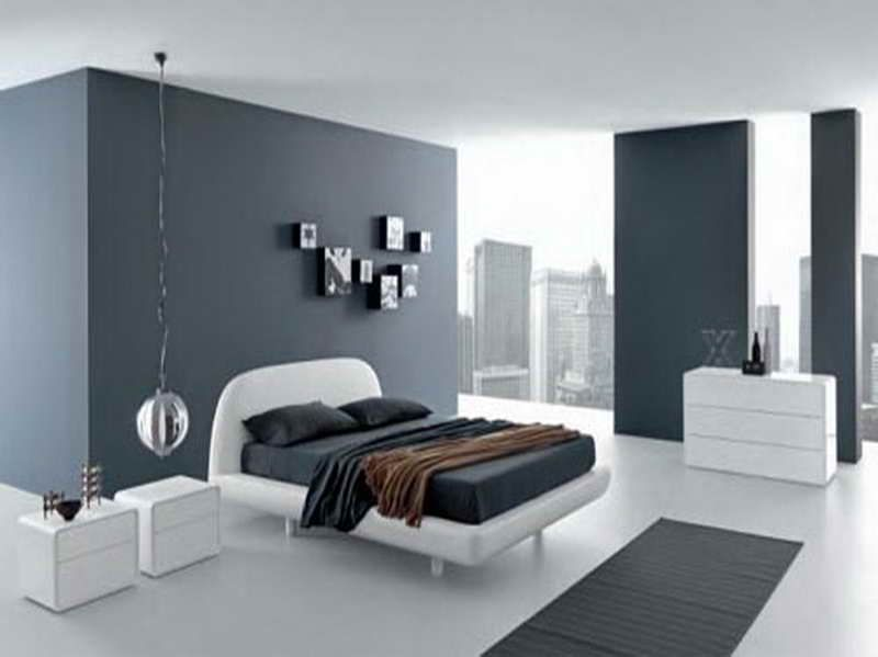 most popular grey paint colors with white cabinet - Grey Bedroom Colors