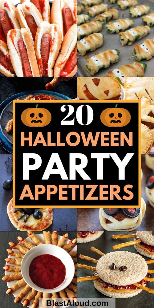 20 Spooktacular Halloween Party Appetizers That'll Wow Your Guests #fingerfoodappetizers