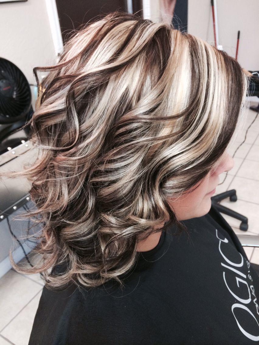 Atemberaubende hiliteslowlites Farbe Haarfarbe Stil mit ...