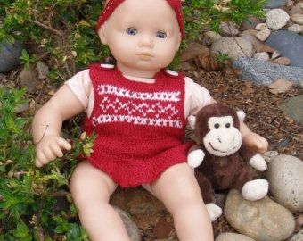 EASY RED DRESS von knittingfordolls auf Etsy