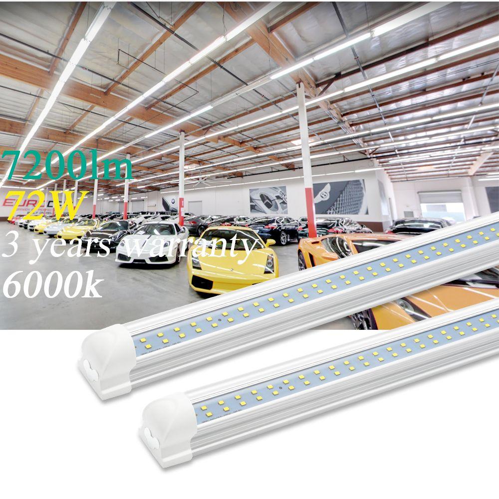 8ft Led Shop Light Garage Supermarket Ceiling Fixture Lighting