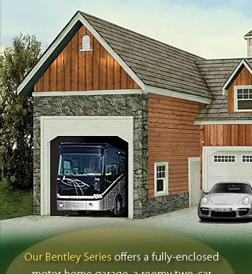 Rv garage kit prefab coach house barn pros garage for Rv garage packages